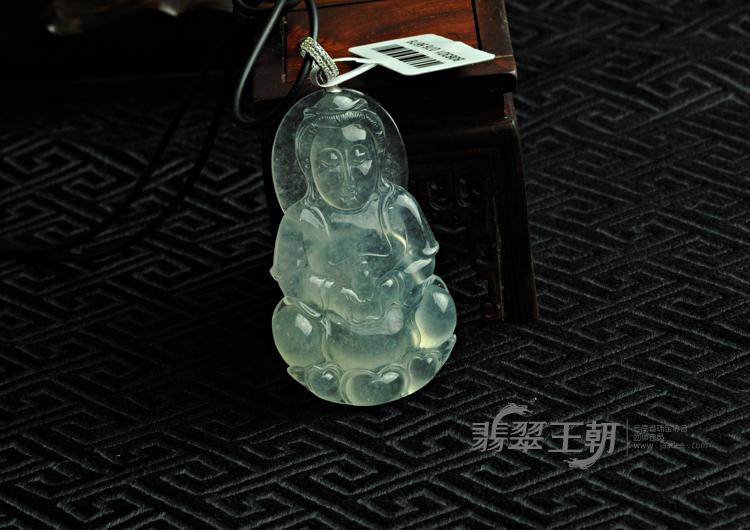玻璃种缅甸翡翠观音挂件