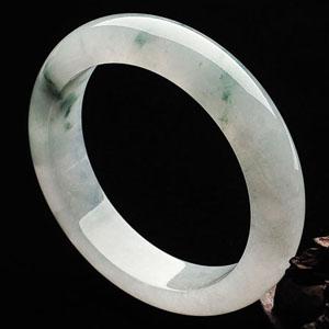 (超值推荐)冰种飘花手镯(58.9mm)